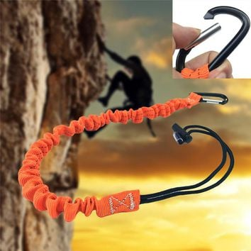 Single Carabiner Tool Lanyard Retractable Safety Rope Telescopic Elastic Buckle For Climbing Equipment Camping Climb
