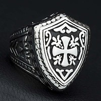 Knight Templar Cross Motif Ring