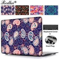 "Case For Macbook Pro 13 15 with 2015 Retina Disply Paisley Seamless Plastic Hard Case Cover For Mac Air 13"" with Keyboard Cover"