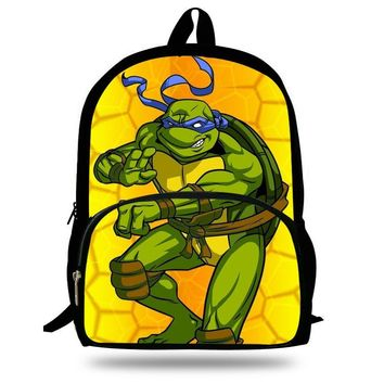 16-Inch Popular Cartoon Schoolbag TMNT Backpack For Teens Ninja Turtles Bags For Girls Boys