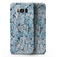 Abstract Wet Paint Teal - Samsung Galaxy S8 Full-Body Skin Kit