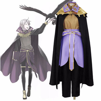Roleplay Game Fire Emblem: Awakening Dark Mage Henry Coslay Costume Black Mage Wizard Costume Haloween Costume for Men
