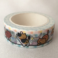 Neko Atsume Washi Tape - Kitty Collector - Polka Dot