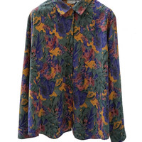 SB001 80S VINTAGE LE CAVIAR Multicolored Button Up Shirt