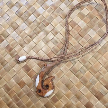 Koa Bone Hook Necklace
