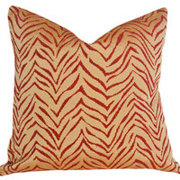 Zebra Pillows Luxury Animal Print Pillows by PillowThrowDecor
