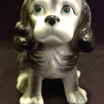 Cocker Spaniel Dog Planter, Vase  made in Japan (1225)