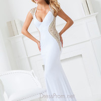 Embellished Floor Length Tony Bowls Evening Gown TBE11534