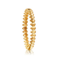 Pangolin Scale Bangle in 18 ct Yellow Gold - Patrick Mavros
