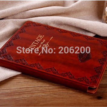 Luxury Retro Ancient Vintage Old Flip Book Style PU Leather Case Magnetic Stand Smart Cover For iPad Mini 1 2 Retina Mini 3