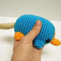 Big Perry the Platypus  Made to Order  by SyppahsCuteCreations