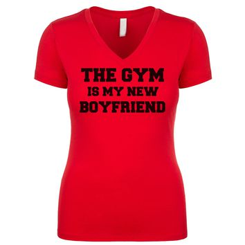 The Gym Is My New Boyfriend Women's V Neck