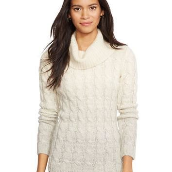 Lauren Ralph Lauren Ombr¨¦ Cable-Knit Sweater