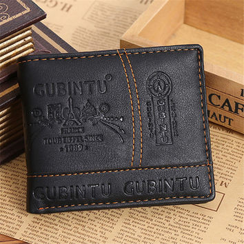 Ulrica 2016 fashion men wallets famous brand leather wallet design wallets with coin pocket purse card holder for men carteira