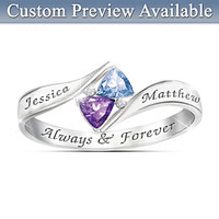Love's Promise Engraved Birthstone Ring