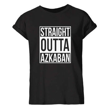 Harry Potter Inspired t shirt, Straight Outta Azkaban, Black tshirt, Shirt, Tumblr, Hipster T-shirt, Unisex,  S- 3XL Size