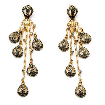 Lustrous Waterfall Drop Earrings