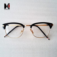 Fashion Square Eyewear Brand Designer Women Half Frame Eyeglass Stylish Men Optical Frames