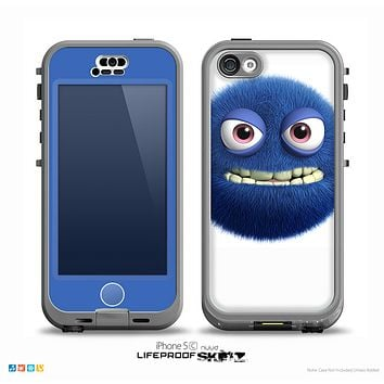 The Angry Blue Fury Monster Skin for the iPhone 5c nüüd LifeProof Case