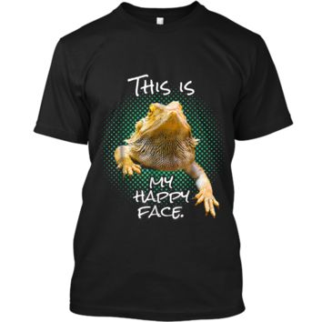 This Is My Happy Face Bearded Dragon Funny Reptile  Custom Ultra Cotton