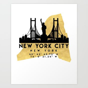 Best New York City Print Maps Products on Wanelo