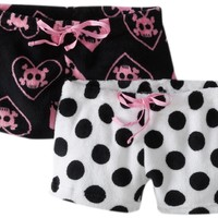 Sweet Junior's 2 Plush Shorts Skulls and Dot