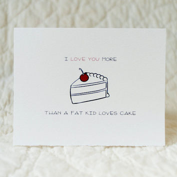 Funny Valentine Card  4x5 folded card with by inoroutmedia on Etsy