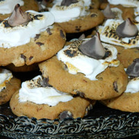 12 Smore Chocolate Chip Cookies Wedding Camping Fishing S'more Birthday Wedding Bridal Baby Shower Treats Favors