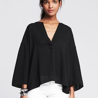 Banana Republic Womens Drapey Popover Blouse