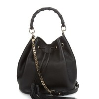 Bamboo leather bucket bag | Gucci | MATCHESFASHION.COM US