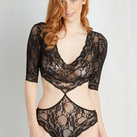Boudoir 3 Saturday Soundtrack Bodysuit Size OS by ModCloth