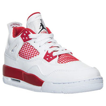 Boys' Grade School Air Jordan Retro 4 Basketball Shoes | Finish Line