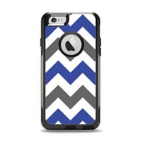 The Gray & Navy Blue Chevron Apple iPhone 6 Otterbox Commuter Case Skin Set