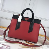 hcxx 1797 Prada Milano Simple Handbag red