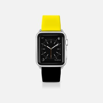 Yellow and black  - Bicolor collection Apple Watch Band (38mm)  by WAMDESIGN | Casetify