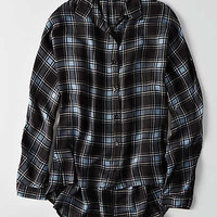 Don't Ask Why Oversize Button Down, True Black