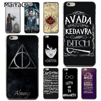 c229c826a8 MaiYaCa Phone Case For iphone 7 6 X Harry Potter Avada Design Coque Shell Phone  Case