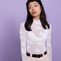 Lazy Oaf Sheer Cloud Polo Neck - View all - New In - Womens