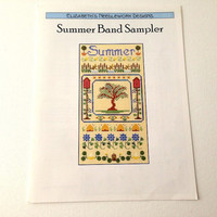 Summer Band Sampler, Counted Cross Stitch, Cross Stitch Pattern, Seasons Pattern, Summer Pattern, Sampler Pattern, Banner Pattern