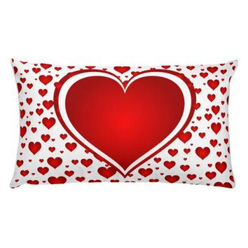 PEAP9 Valentines Day Heart Rectangular Pillow