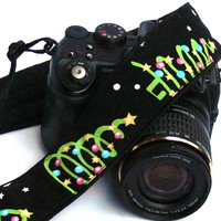 Christmas Camera Strap. dSLR Camera Strap. Canon Camera Strap. Women Accessories.