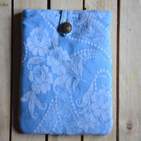 iPad Cover Hardcover, iPad Case, iPad Mini Cover, iPad Mini Case, iPad Air Case, iPad 2, iPad 3, iPad 4, iPad 5 - Vintage fabric and button