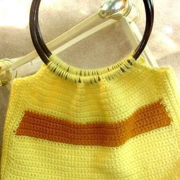 SALE-Crochet Boho Handbag