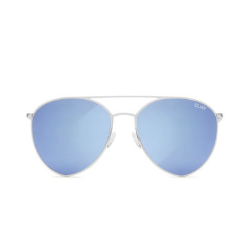 Quay - Indio Sunglasses - Silver/ Blue Mirror