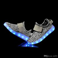 Ex211 LED Light Up Shoes Fashion Sneaker for Men Women Kids Child Boy Girls Slip-on with 11 Color Modes DHL Free shipping 1