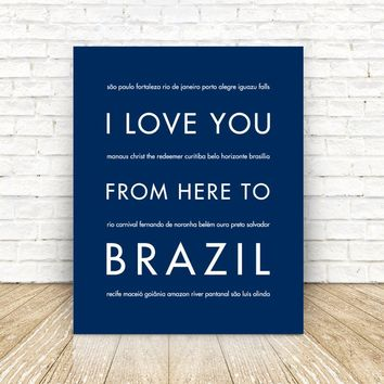 BRAZIL Travel Art Print | Gift Idea | HopSkipJumpPaper