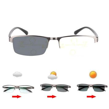 Photochromic + Progressive Multifocal Multi-focus Reading Glasses Transition Sunglasses