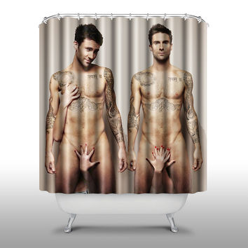 Adam Levine Shower Curtain Handmade Home & Living Bathroom,70-Inch by 70-Inch
