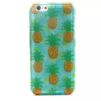 Pineapple Twinkle Silicagel creative case Cover for iPhone & Samsung Galaxy
