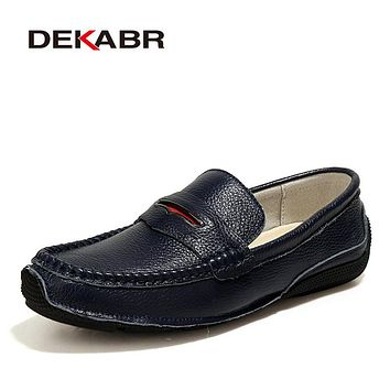 Genuine Leather Casual Shoes Men Quality Waterproof Fashion Loafers Slip On Soft Moccasins Male Loafers Flats Men Shoes